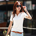 2015 Summer Casual T-shirt Mujeres V-cuello Delgado de Algodón de Las Mujeres Camisetas de Manga Corta Blusas Moda Tops Vestidos Al Por Mayor