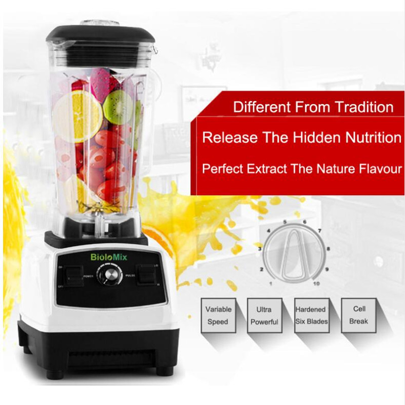 EU/US/UK/AU Plug GERMAN Original Motor professional Blender, smoothies juicer, Food Processor with BPA FREE Blender eu uk au plug 3hp bpa free commercial grade home professional smoothies power blender food mixer juicer food fruit processor