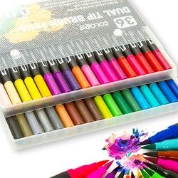 Набор кистей 12-36, гибкий маркер, цветные чернила на водной основе