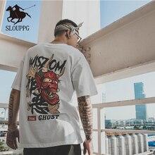 SLOUPPG new fashion T-shirt hip-hop loose large size short-sleeved tide brand couple half sleeve plus bf tees