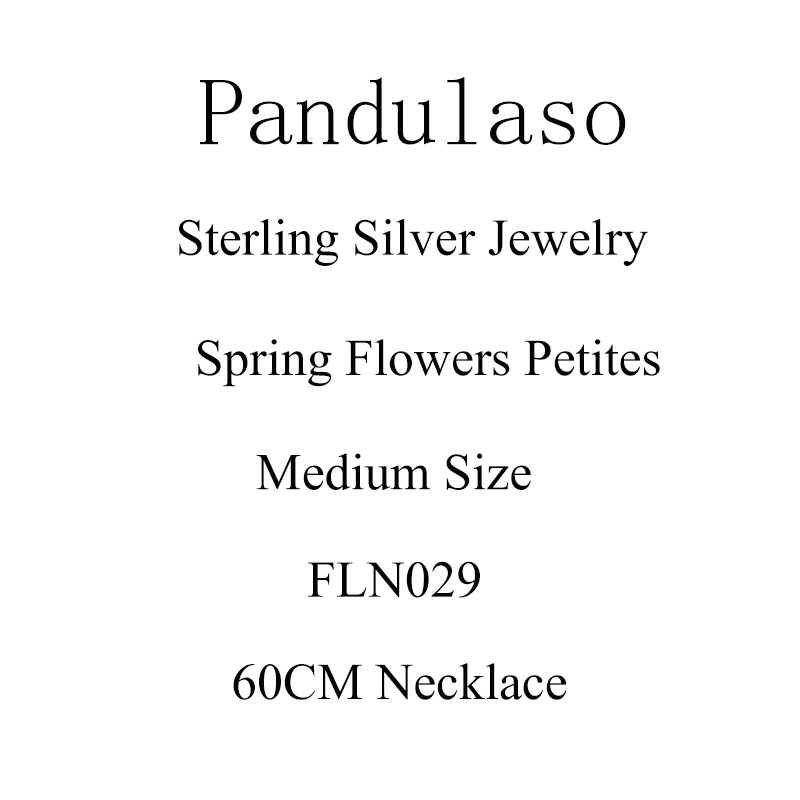Pandulaso Floating Locket Pendant With Spring Flower Petites Medium Size Necklaces & Pendant 925 Sterling silver jewelry цена