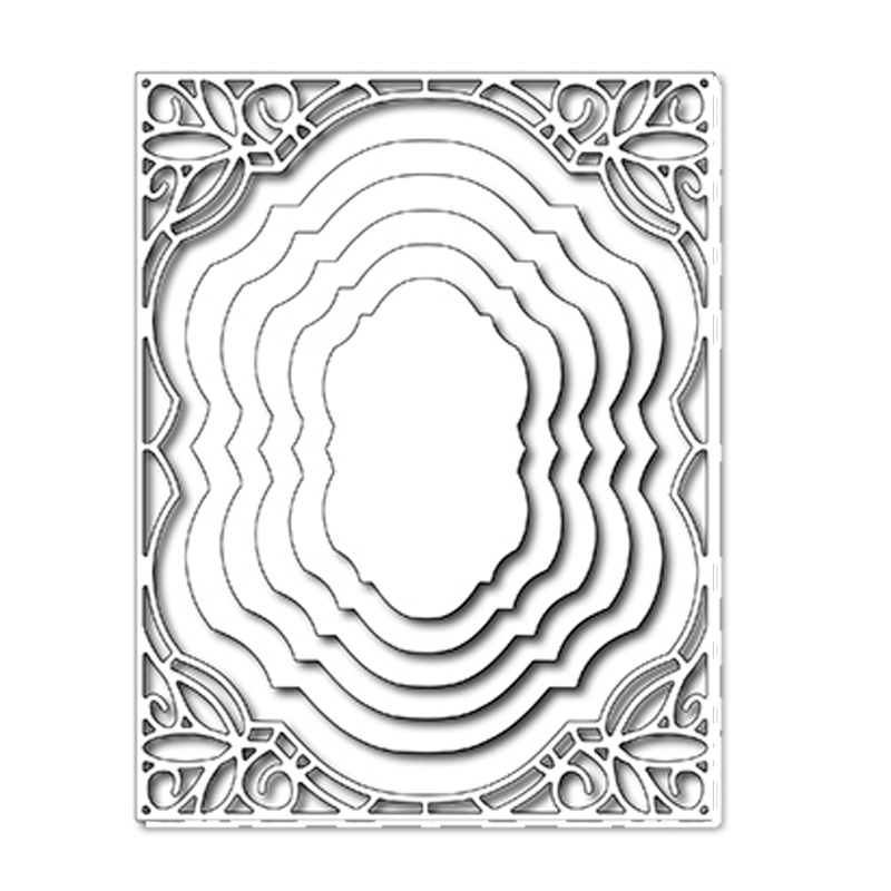 Lace Background DIY Metal Cutting Dies Stencil Scrapbooking Album Crafts Decor