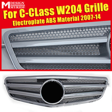 W204 Grille Mesh Electroplate ABS Material Grille Replacement Parts Fits For W204 C180 C200 C230 C250 C280 Front grills 2007-14