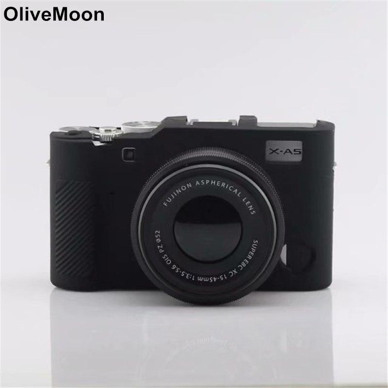 Fast Deliver Olivemoon Soft Silicone Rubber Protective Camera Case Cover For Fuji Fujifilm Xa5 X-a5 Digital Camera Black/brown/camo/blue Sufficient Supply Accessories & Parts