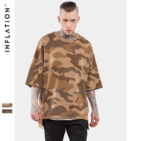 New spring summer 2017 high quality oversize hip hop army tshirt b camouflage baseball jersey men T-shirt embroidery tee