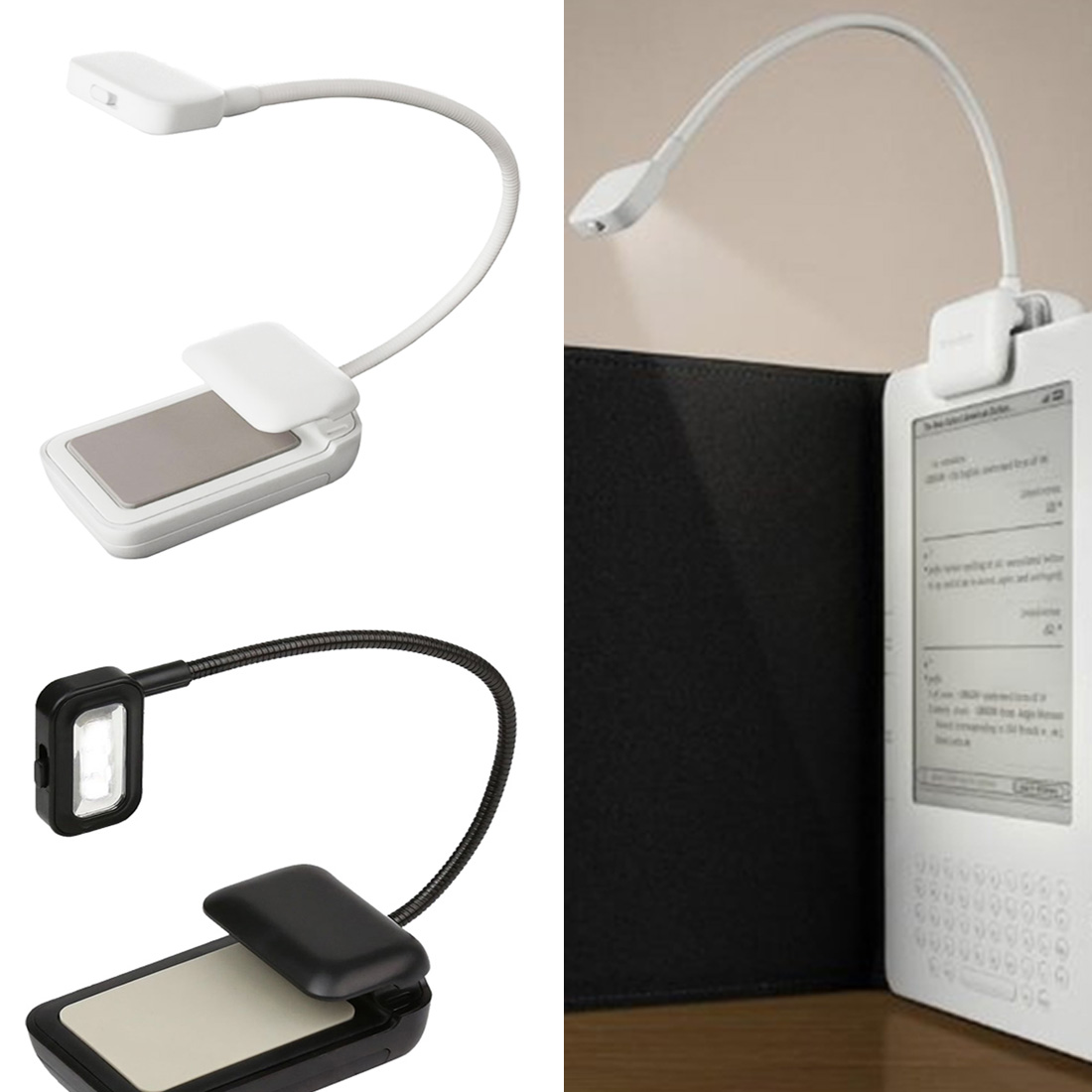 1pcs Portable lamp 0.5W Flexible Mini Clip On Reading