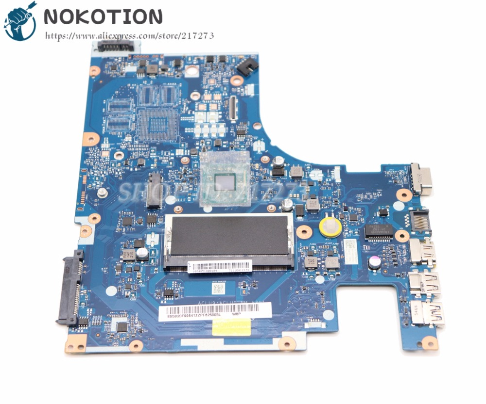 NOKOTION NEW Laptop <font><b>Motherboard</b></font> For <font><b>Lenovo</b></font> <font><b>G50</b></font> <font><b>G50</b></font>-30 Main Board ACLU9 / ACLU0 NM-A311 DDR3 N3530 cpu onboard image