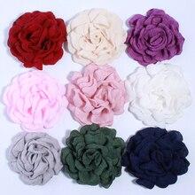 Fabric-Flowers Headband Hair-Clips Korea Fashion Hemp for Lovely Camellia Blossom 50PCS