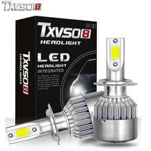 купить led H7 LED Car Light Bulbs H1 H4 H11 Kits with Flip COB Chips-55W 26000LM 6000K Auto Led Headlight Bulb Front light 12V дешево