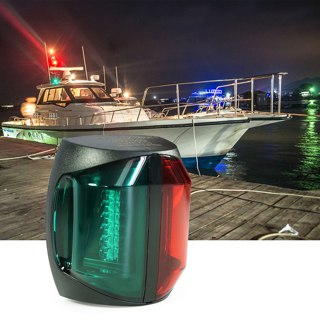 12 V Marine เรือ Bi   สีแสงสีแดงสีเขียว LED Navigator เรืออุปกรณ์เสริม