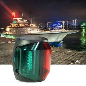 Image 1 - 12 V łódź morska Bi kolor światła czerwony zielona dioda LED Navigator lampa akcesoria do łodzi