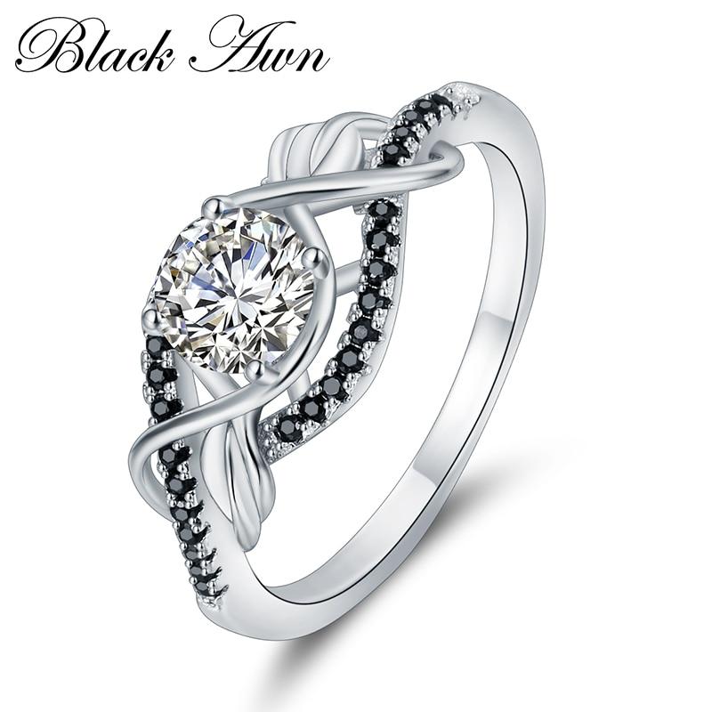 Trendy 3.5 Gram 100% Asli 925 Sterling Perhiasan Perak Hitam & Putih - Perhiasan bagus - Foto 2