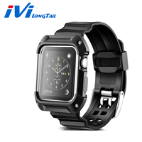 2in1 Case Strap For Apple Watch Band Strap Case Series 1 2 38mm 42mm Outdoor Sport