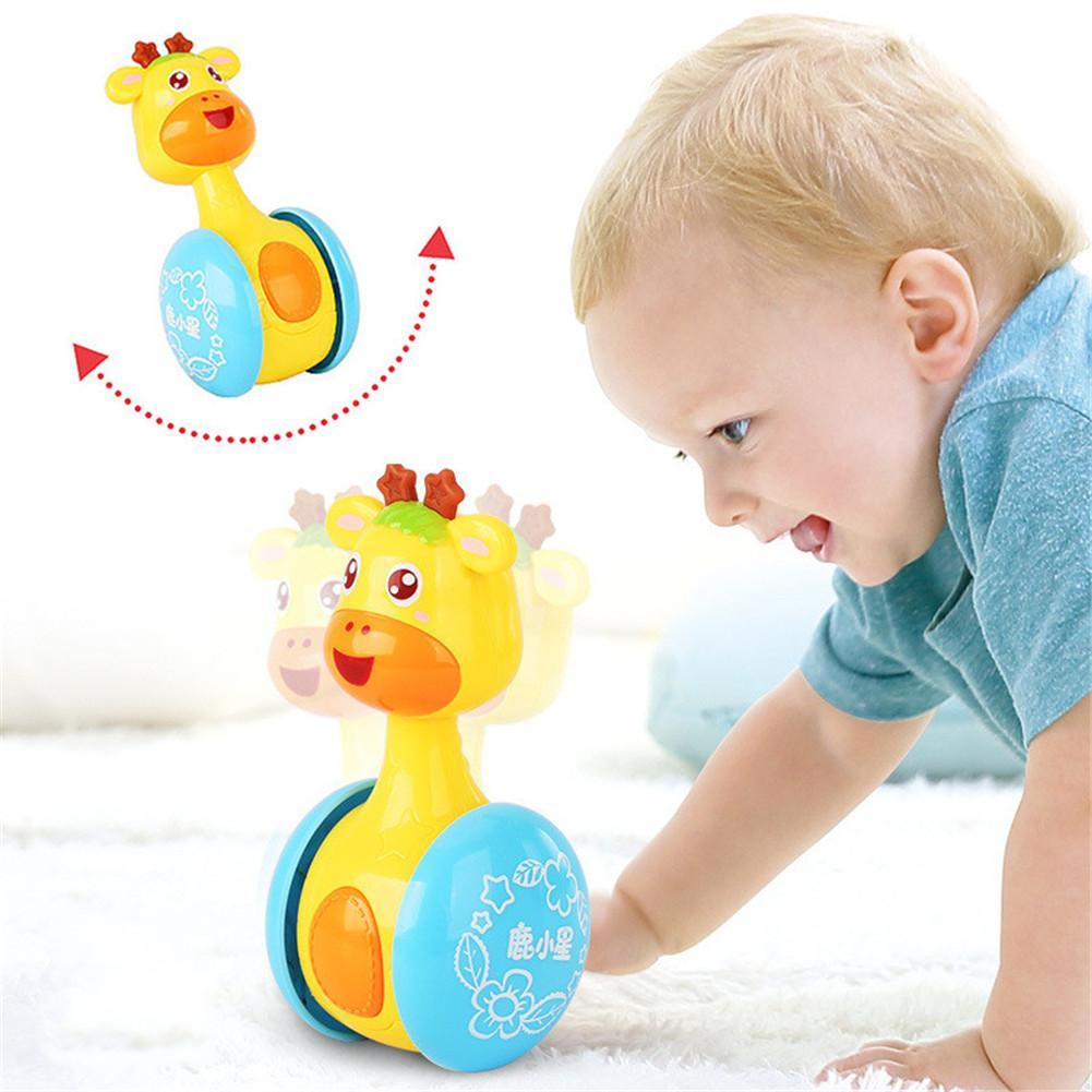 Baby Rattles Tumbler Doll Baby Toys Sweet Bell Music Roly-poly Learning Education Toys Gifts Baby Infant Bell Baby Toys