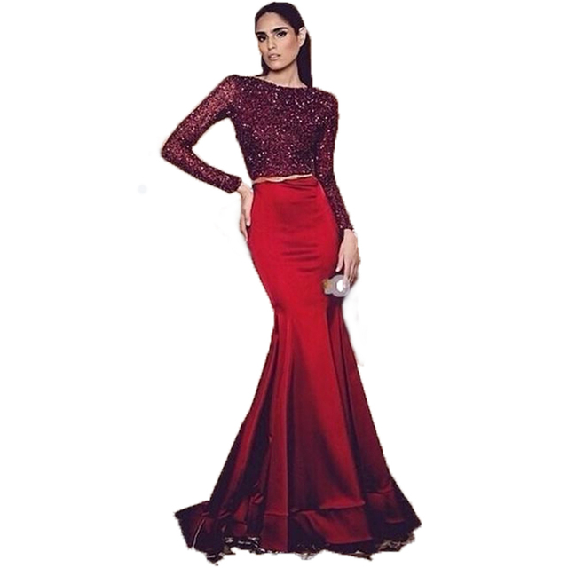 Favori Online Shop SoAyle robe de soiree Mermaid Evening Dress Crop Top  HI47