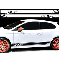 YongXun 2pcs FOR VW GOLF GTI RACING STRIPES GRAPHIC DECAL STICKERS