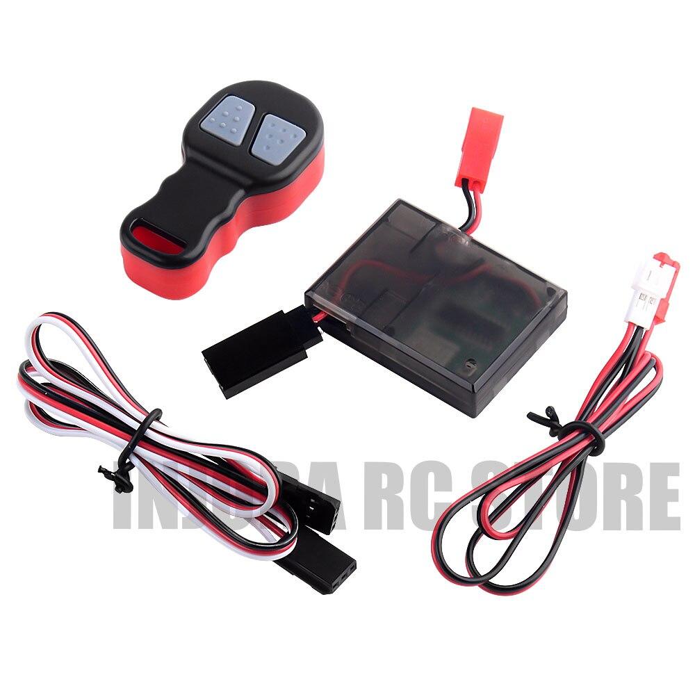 Rc カー電動ウインチワイヤレスリモートコントロール 1/10 RC クローラ場合は受信トラクサス TRX4 軸 SCX10 90046 D90 タミヤ CC01パーツ & アクセサリー   -