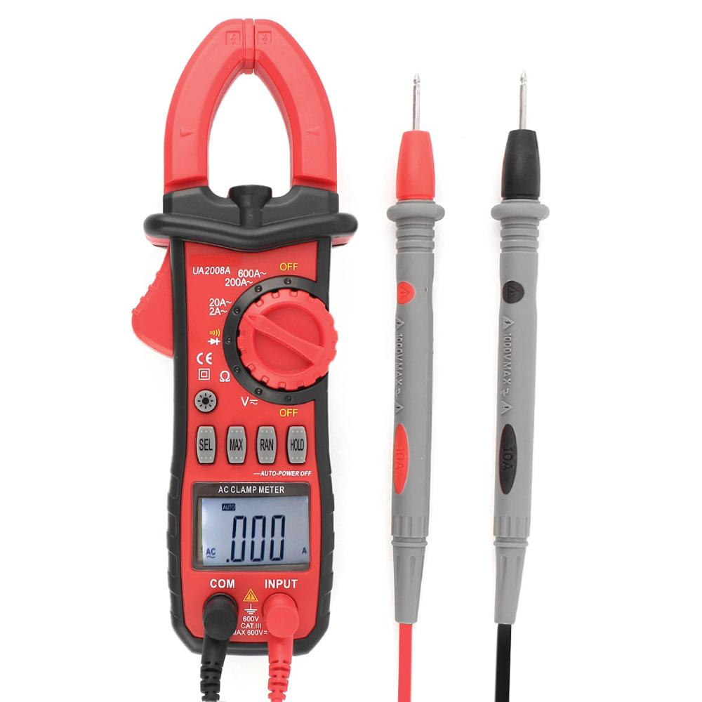 Digital Diagnostic Tool LCD Clamp Meter Multimeter DC/AC Voltage AC Current Tongs Resistance Diode Continuity Tester UA2008A