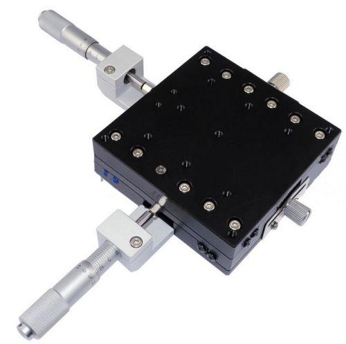 Axe XY Guide croisé micromètre Table coulissante manuelle scène coulissante