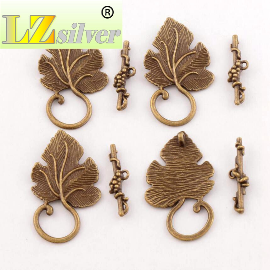 Jewelry & Access. ... Jewelry Findings & Components ... 32718554651 ... 3 ... Grape Leaf Alloy Toggle Clasp Jewelry Findings Fit Bracelets L872 7sets Antique Silver/Bronze/Copper/Gold ...