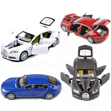 1/32 Bugatti Veyron 16C Galibier Diecast Metal Model Cars Alloy Electronic Car Toys Birthday Christmas Gift For Boys Kids toys