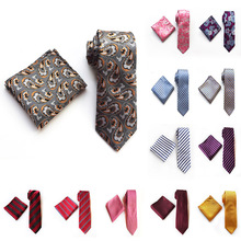 2019 New 67 Colors 100% Silk Paisley Mens Tie Pocket Square Set Formal Dress Neckties Classic Party Wedding Gift
