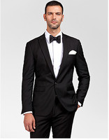 custom hand made suits for wedding tuxedo black groom wear slim fit 2019 men suits