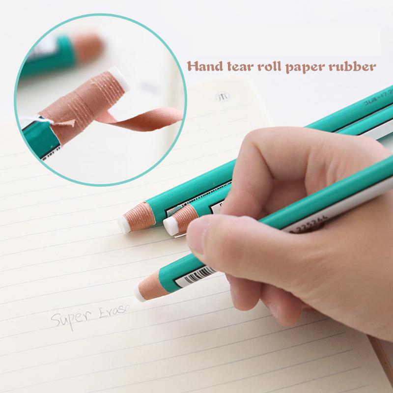 Pen Style Novelty Erasers Revise Details Highlight Modelingpencil Rubber For Design Drawing Manga Art Supplies