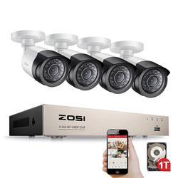 ZOSI الأمن نظام الكاميرا 4ch نظام الدائرة التلفزيونية المغلقة DVR الأمن نظام 4CH 1 تيرا بايت 4x1080 P الأمن كاميرا 2.0mp كاميرا DIY أطقم