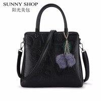 SUNNY SHOP Luxury Women Bag Designer Handbags High Quality Shoulder Bags Famous Brand Women Messenger Bags
