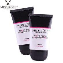 Miss Rose Face Foundation Primer Oil-Control Base Makeup Primer Transparent Hydrating Brighten Correcting Pore Smooth Concealer light correcting serum primer праймерсыворотка catrice лицо