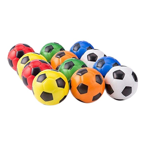 Mini Sports Stress Balls Soccer Balls Fun, 12-Pack