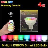 DC 12V MR16 4W Mi Light Bulbs 2 4G Wifi RGBW RGBW LED Lamp Light Wireless