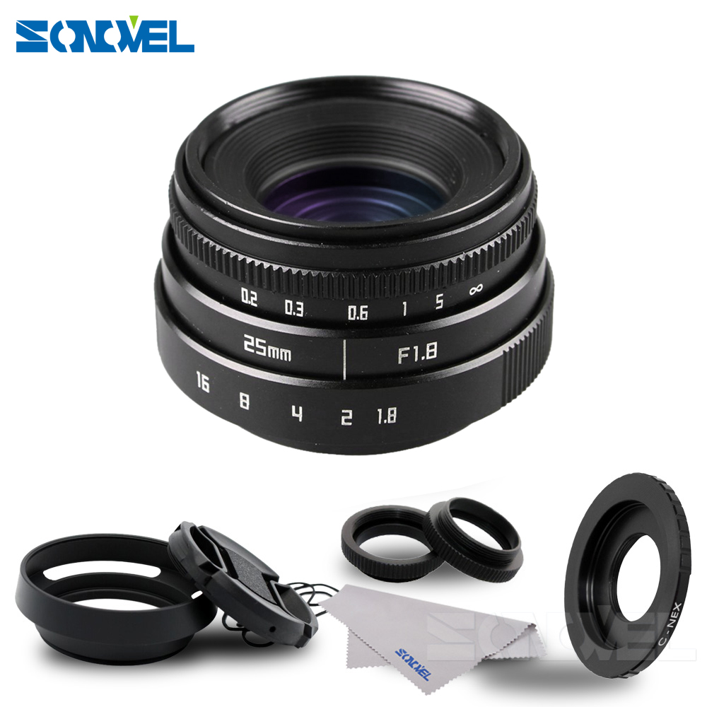 25mm F1 8 APS C Television TV Lens CCTV Lens hood For Sony E Mount Nex