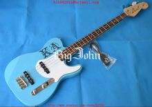 free shipping customized electric bass guitar in blue with rosewood fingerboard basswood body  F-1502