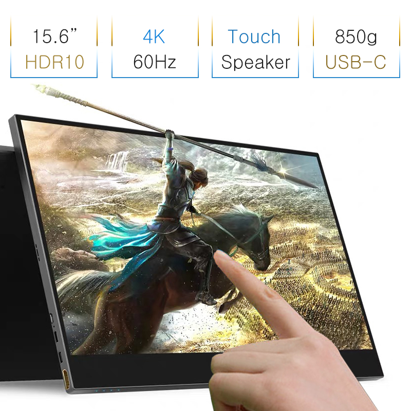 Narrow Frame 15 6 4K Touch Game Screen For PS4 Switch XBOX NS Portable Expansion Touch