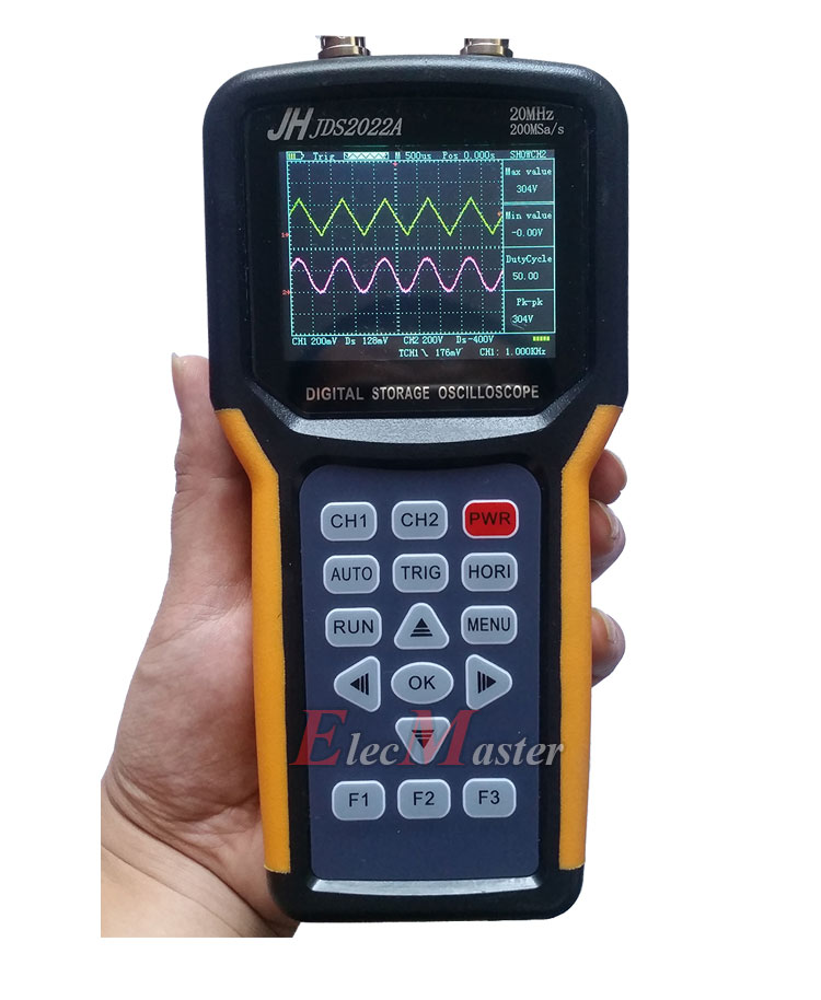 Portable Digital Oscilloscope : Jds a handheld oscilloscope portable mhz