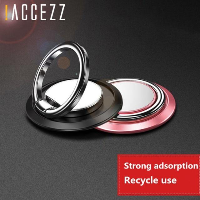 ! ACCEZZ Ring Finger Suporte Magnético Universal Phone Holder 360 Graus de Rotação Para iphone Huawei Xiaomi Oppo Telefone Suporte de Apoio