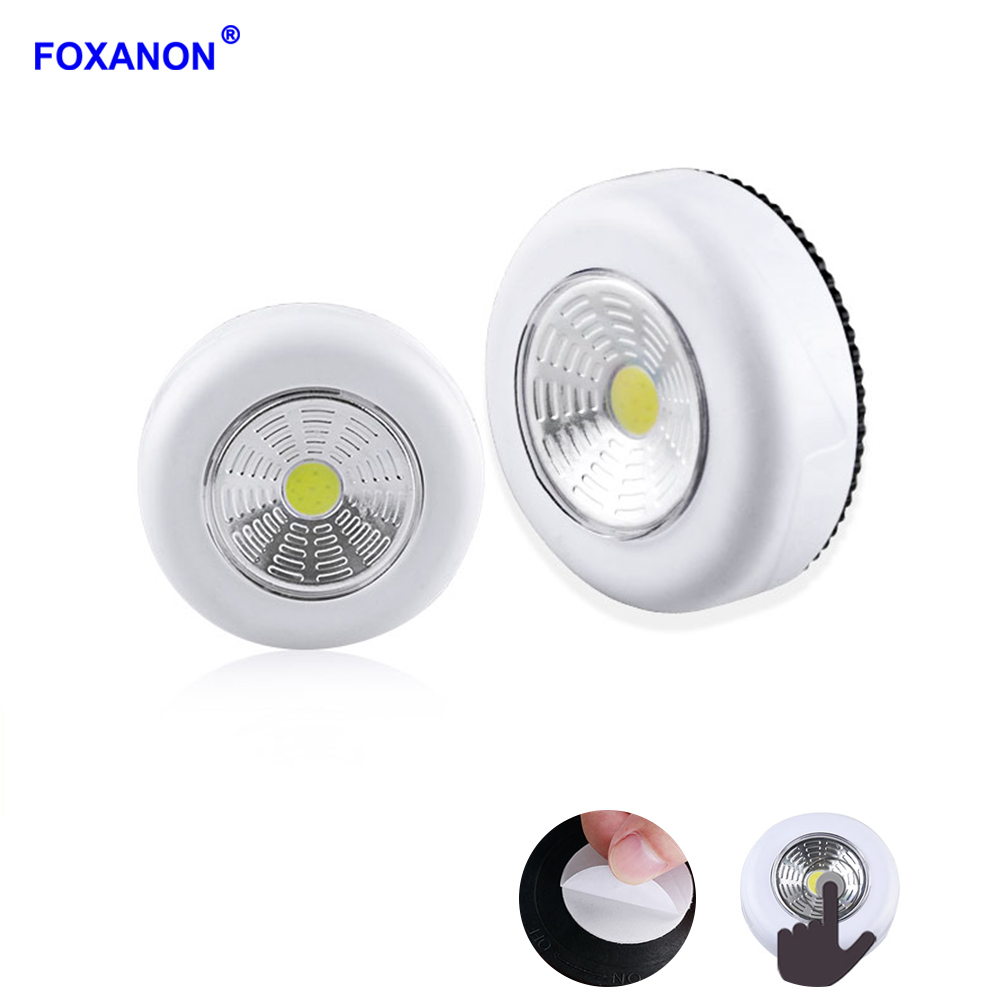 Knowledgeable Foxanon Led Lamp 3w Cob Touch Night Light Kitchen Cabinet Closet Stair Home Emergency Lights Stick On Lamps 3a Battery Powered Lights & Lighting Light Bulbs