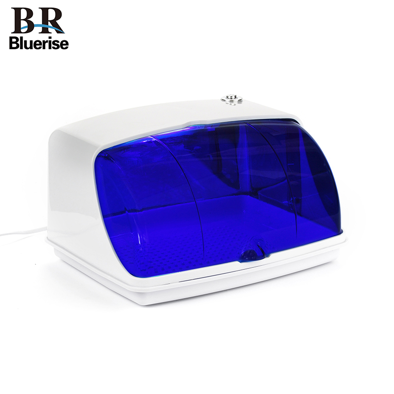 BLUERISE UV Sterilizer Nail Tools UV Disinfection Salon Nail Art Equipment Nails Clipper Sterilize Manicure Kill