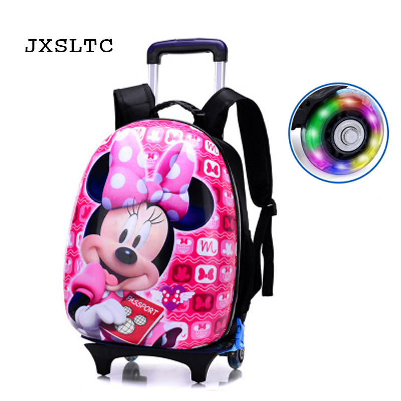 JXSLTC 2018 New Children Mochilas Kids school bags With Wheel Trolley Luggage For boys Girls backpack Mochila Infantil Bolsas hello kitty children school bags mochilas kids backpacks with wheel trolley luggage for girls backpack mochila infantil bolsas