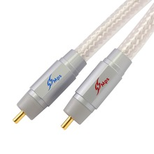 HiFi MPS M-8G HiFi 99.9997% OFC+ Silver Plated 24K Gold Plated Plug RCA connector audio cable DVD CD DAC amplifier Audio cable