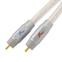 MPS M 8G HiFi 99 9997 OFC Silver Plated 24K Gold Plated Plug RCA Connector Audio