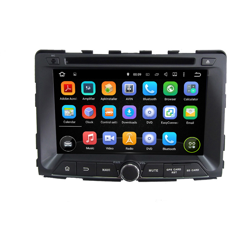 For SsangYong RODIUS 2014 android 5 1 1 HD 1024 600 car dvd player gps autoradio