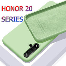 Honor 20 Case for Huawei Honor 20 Pro Silicone Liquid Original Soft Case Hawei Honor20 Honer 20Pro 2 0 Honor20 Phone Cases Cover(China)