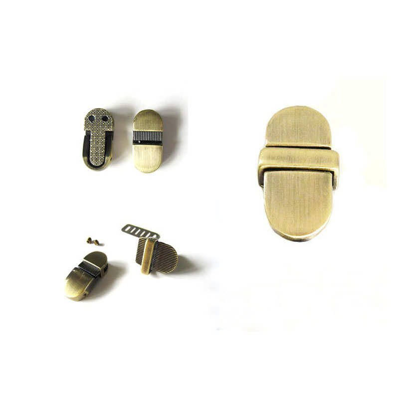 Purse Tongue Locks / Purse Thumb Locks / Purse Catch Lock in Brushed Antique Brass