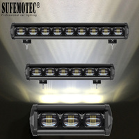 6D Lens 90W 120W 150W 180W Single Row LED Bar Light For 12V 24V 4x4 Offroad Trucks ATV Boat Driving Work Flood Beams Barra Light