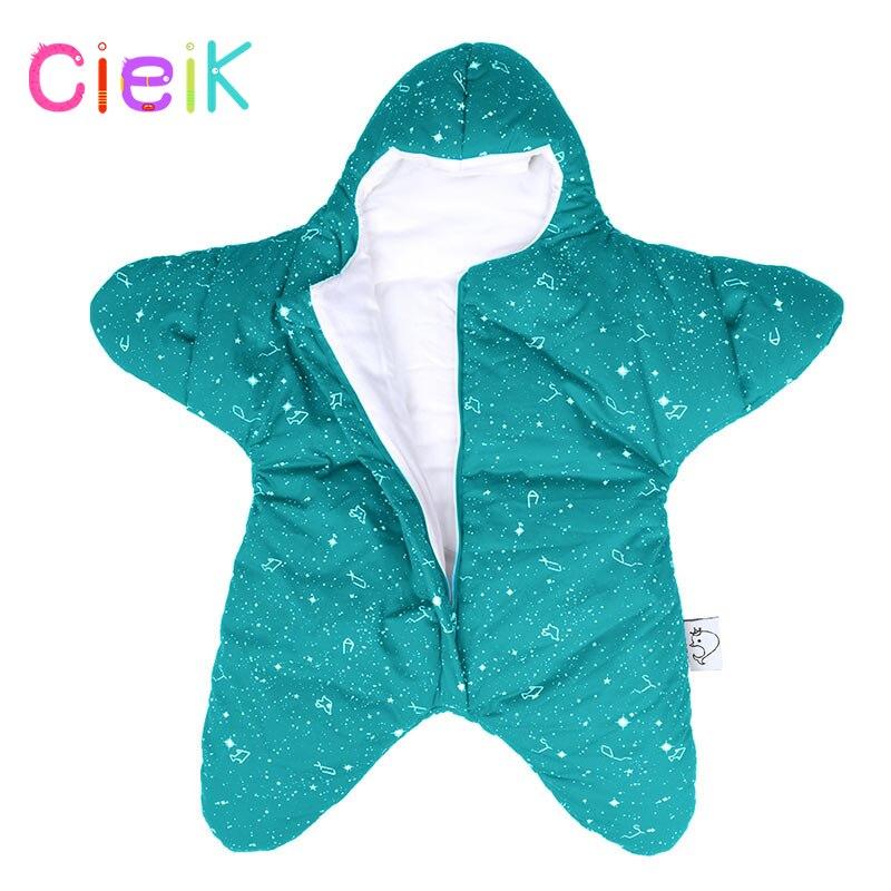 CieiK Baby Sleeping Clothes Cotton Winter Newborn Swaddle Star Sleepsack Soft Zipper Closure Warm Crochet Wearable Blanket матрас универсальный в коляску esspero baby cotton star 108068286