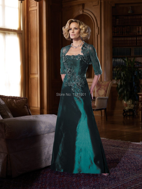 Vestido De Festa Importado Online Party Dress Long Dressy Emerald Green Mother Of The Bride Dresses