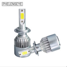 C6 LED Car Headlight 6000K 72W 8000LM 12V 24V H1 H3 H4 H7 H11 9005 9006 Auto Foglight LED Headlamp Beam All In One Car 2PCS(China)